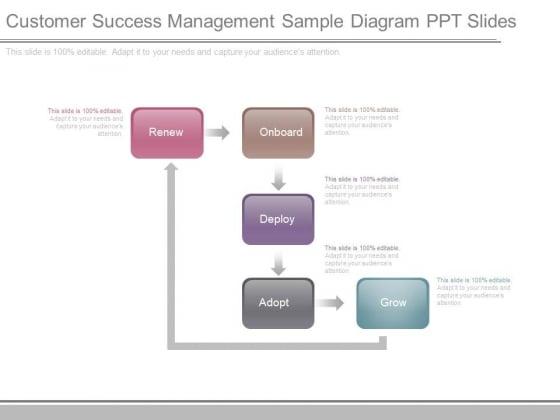 Customer Success Management Sample Diagram Ppt Slides