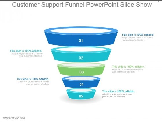 Customer Support Funnel Powerpoint Slide Show