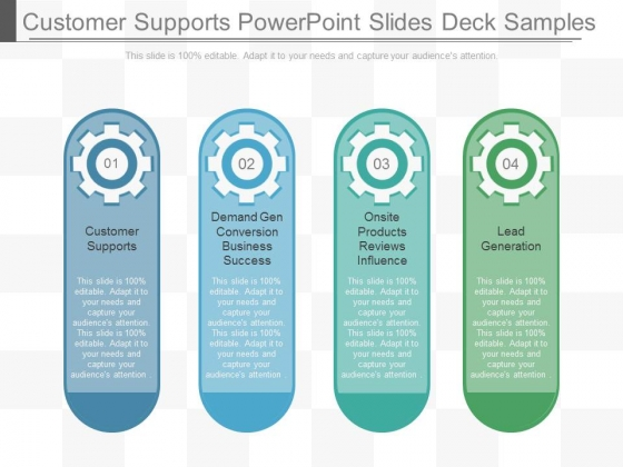 Customer Supports Powerpoint Slides Deck Samples