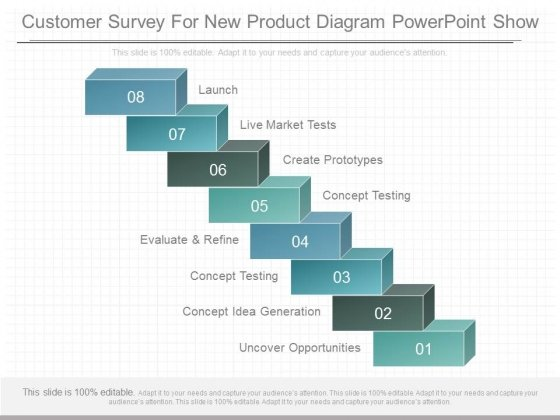 Customer Survey For New Product Diagram Powerpoint Show