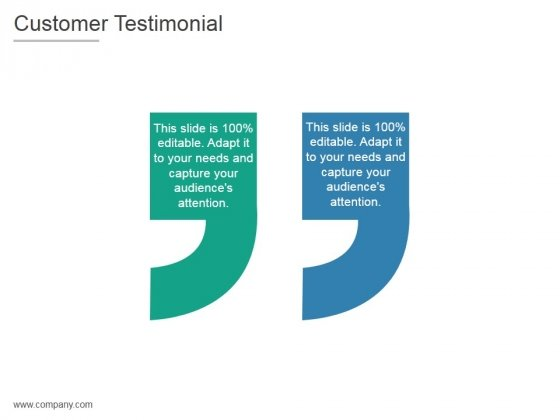 Customer Testimonial Ppt PowerPoint Presentation Clipart