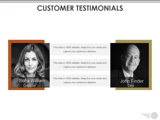 Customer Testimonials Ppt PowerPoint Presentation Ideas Inspiration