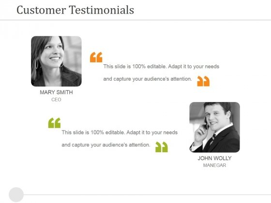 Customer Testimonials Ppt PowerPoint Presentation Infographic Template Slideshow