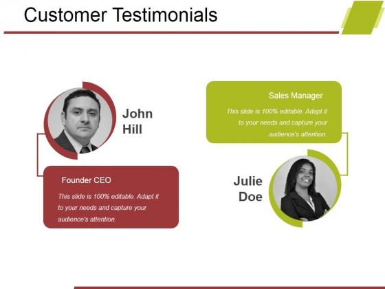 Customer Testimonials Ppt PowerPoint Presentation Portfolio Demonstration