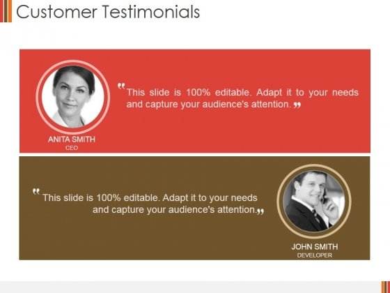 Customer Testimonials Ppt PowerPoint Presentation Summary Background Images