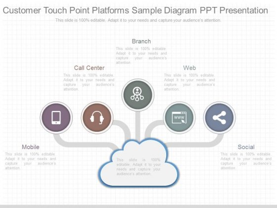 Customer Touch Point Platforms Sample Diagram Ppt Presentation