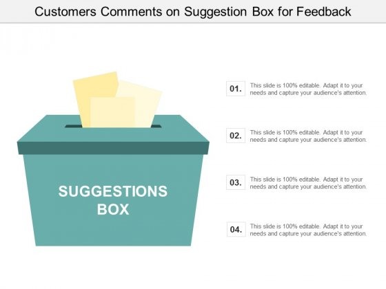 Customers Comments On Suggestion Box For Feedback Ppt Powerpoint Presentation Slides Guidelines