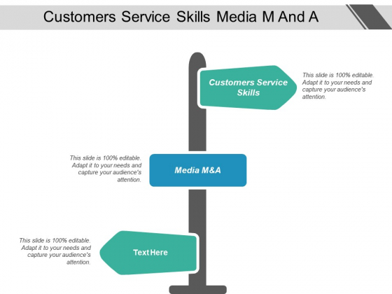 Customers Service Skills Media M And A Ppt PowerPoint Presentation Styles Structure
