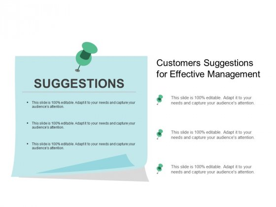 Customers Suggestions For Effective Management Ppt Powerpoint Presentation Model Format