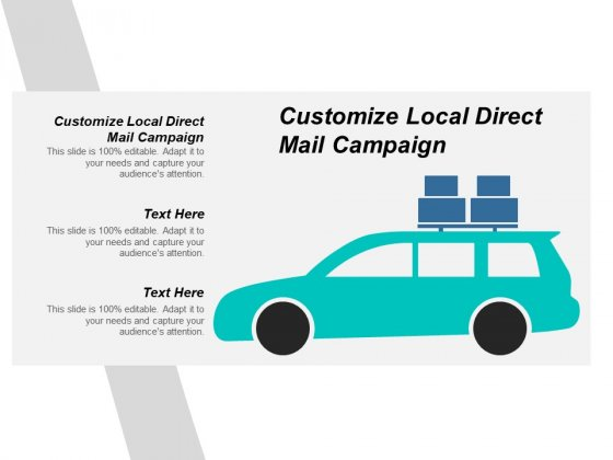 Customize Local Direct Mail Campaign Ppt PowerPoint Presentation Show Files Cpb