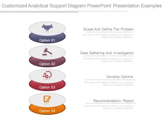 Customized Analytical Support Diagram Powerpoint Presentation Examples