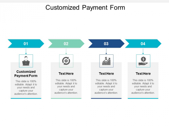 Customized Payment Form Ppt PowerPoint Presentation Summary Smartart Cpb