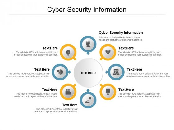 Cyber Security Information Ppt PowerPoint Presentation Visual Aids Backgrounds Cpb