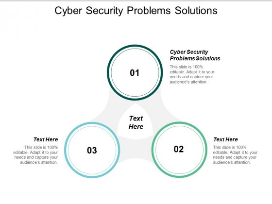 Cyber Security Problems Solutions Ppt PowerPoint Presentation Styles Example Introduction Cpb