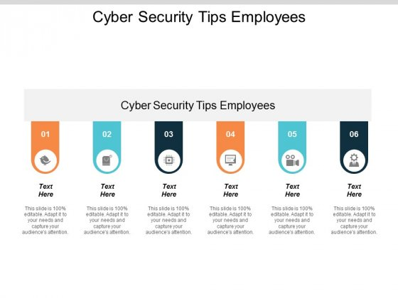 Cyber Security Tips Employees Ppt PowerPoint Presentation Outline Slide Download Cpb