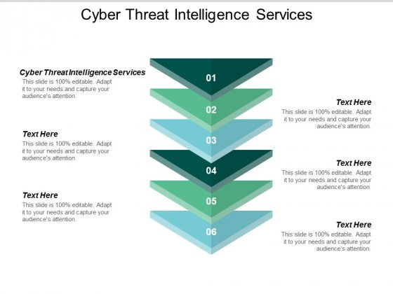 Cyber Threat Intelligence Services Ppt PowerPoint Presentation Infographics Portfolio Cpb