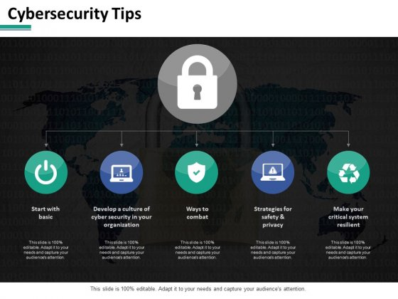 Cybersecurity Tips Ppt PowerPoint Presentation Gallery Example File