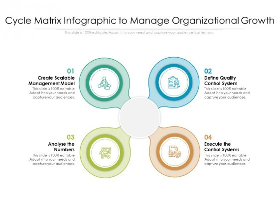 Cycle Matrix Infographic To Manage Organizational Growth Ppt PowerPoint Presentation File Templates PDF