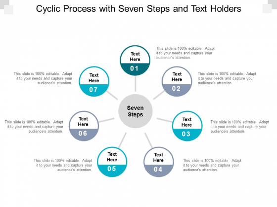 cyclic process with seven steps and text holders ppt powerpoint presentation ideas vector