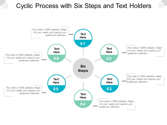 cyclic process with six steps and text holders ppt powerpoint presentation professional file formats