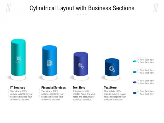 Cylindrical Layout With Business Sections Ppt PowerPoint Presentation Gallery Topics PDF