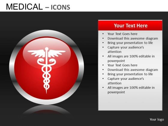 Caduceus PowerPoint Graphics Rod Of Asclepius PowerPoint Images