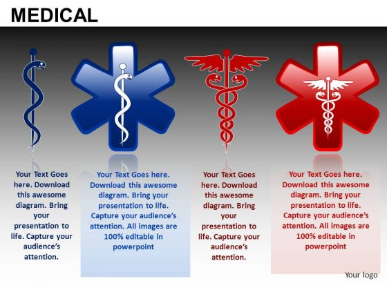 Caduceus PowerPoint Templates Rod Of Asclepius Ppt Slides