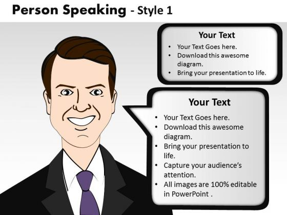 Callouts Person Speaking PowerPoint Slides And Ppt Editable Graphics