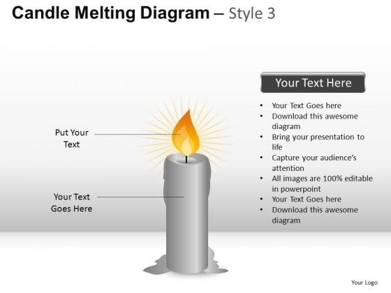Candle Diagram Slides PowerPoint Templates