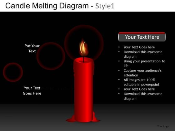 Candle Melting Diagram PowerPoint Image Graphics