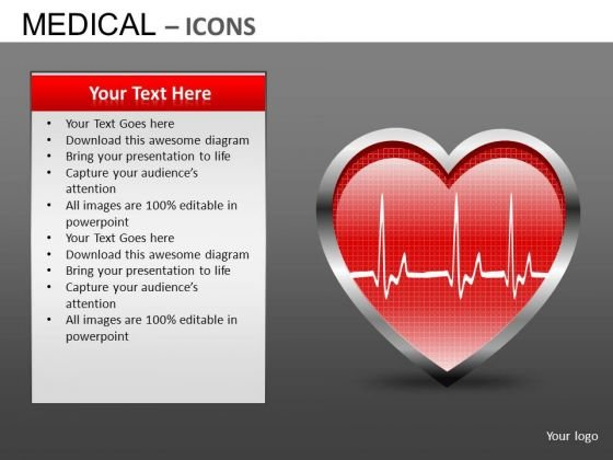 Cardiology Medical Editable PowerPoint Templates Editable Ecg Ekg Ppt Slides