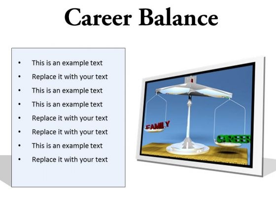 Career Family Balance Business PowerPoint Presentation Slides F