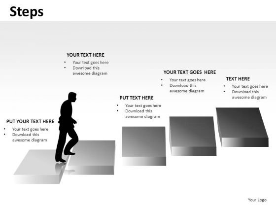 Career Growth Steps PowerPoint Slides And Ppt Diagram Templates