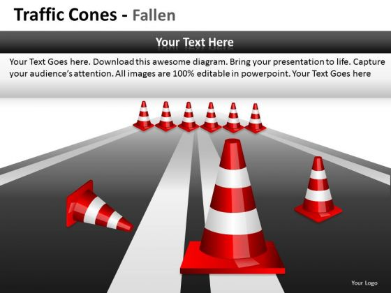 Careful Traffic Cones PowerPoint Slides And Ppt Diagram Templates