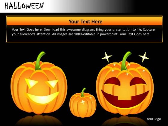 Carved Pumpkin Lanterns For Halloween PowerPoint Templates Ppt Slides