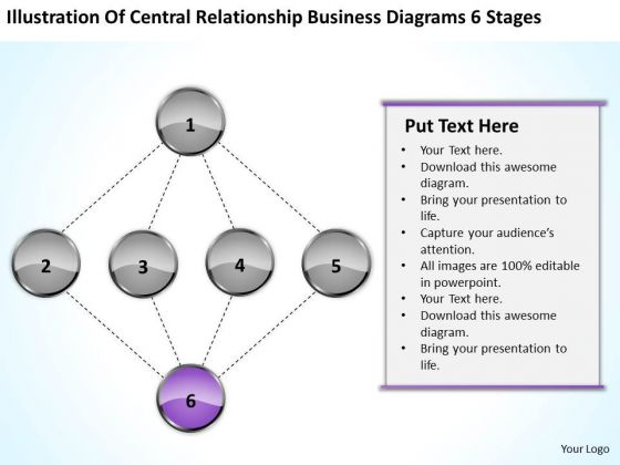 Central Relationship Business Diagrams 6 Stages Ppt Create Plan PowerPoint Templates