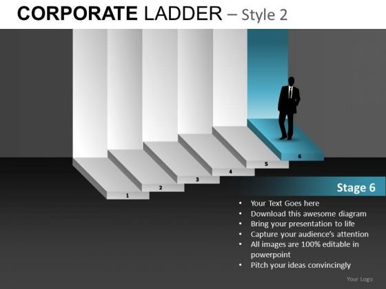 Ceo Corporate Ladder PowerPoint Ppt Templates