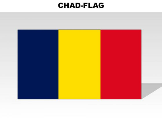Chad Country PowerPoint Flags