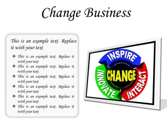Change Business PowerPoint Presentation Slides F