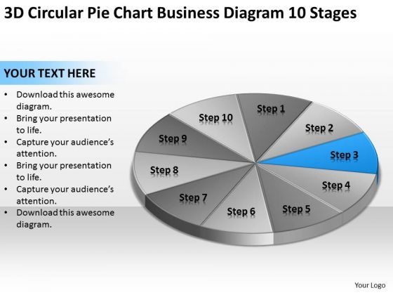 Chart Business Diagram 10 Stages Ppt Non Profit Plan Template PowerPoint Slides