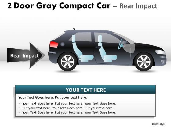 Chassis 2 Door Gray Car Side PowerPoint Slides And Ppt Diagram Templates