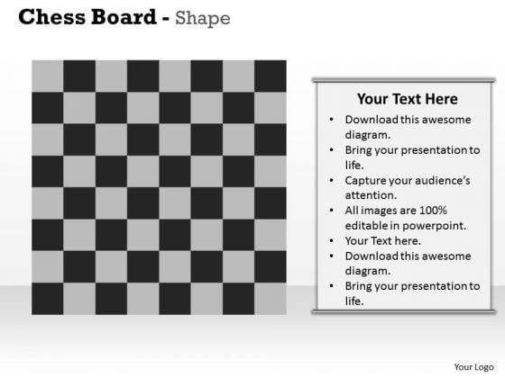 Chess Board Shape PowerPoint Presentation Template