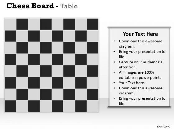 Chess Board Table PowerPoint Presentation Template