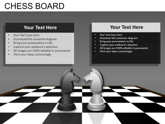 Chess Knights PowerPoint Templates