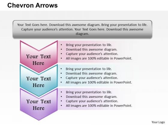 Chevron Arrows PowerPoint Presentation Template