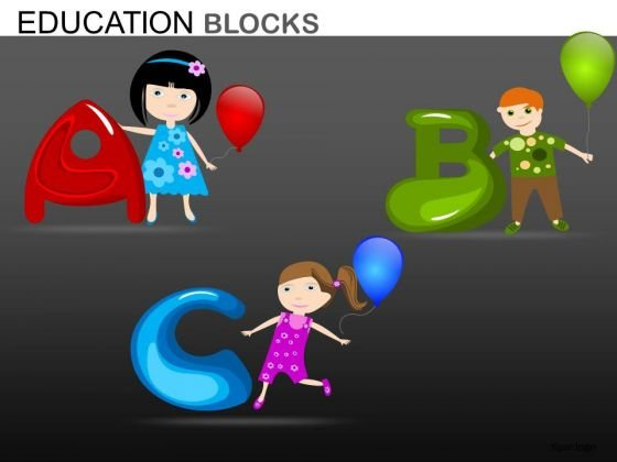 Children Learning Abc PowerPoint Templates