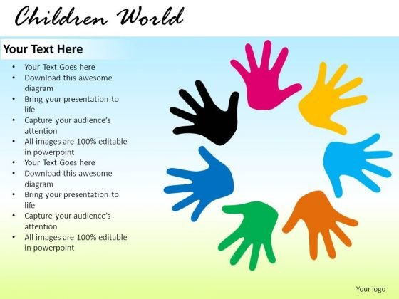 Children Team Diversity PowerPoint Slides And Ppt Diagram Templates