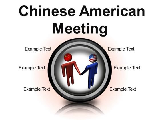 Chinese American Meeting Business PowerPoint Presentation Slides Cc