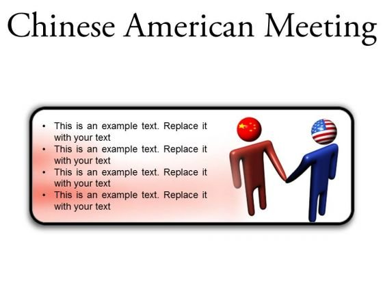 Chinese American Meeting Business PowerPoint Presentation Slides R