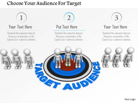 Choose Your Audience For Target PowerPoint Templates